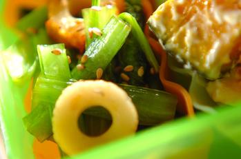 小松菜とちくわの炒め煮