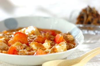 トマト入りマーボー豆腐
