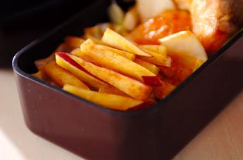 シナモン風味のレンジポテト