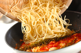 白身魚のトマトパスタの作り方3