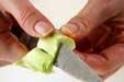 ブロッコリーのサラダの下準備1