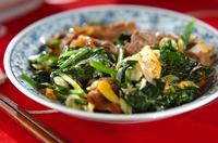 ホウレン草と牛肉の炒め物