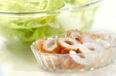 レタスの中華スープの下準備1