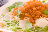 中華風お刺身のサラダ
