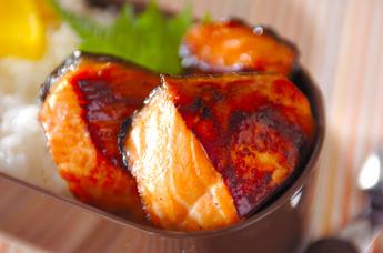鮭の漬け焼き