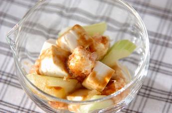 豆腐とセロリのサラダ
