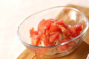 ピリ辛トマト素麺