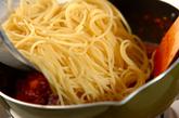 タコとトマトの煮込みパスタの作り方3