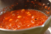 タコとトマトの煮込みパスタの作り方2