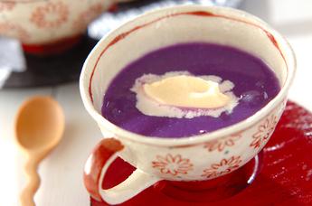 紫イモの汁粉