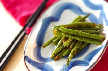 サヤインゲンの炒め物