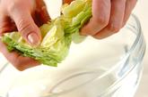 春キャベツのシーザーサラダの作り方1
