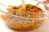 ドングリ麺のキムチ和えの作り方1