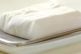 めかぶの混ぜ混ぜ豆腐の下準備1