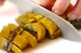 高菜漬けの豆腐和えの下準備1