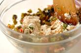 高菜漬けの豆腐和えの作り方2