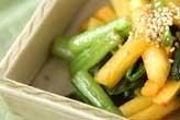 柿と野沢菜の炒め物