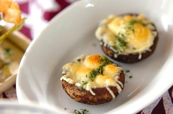 シイタケの簡単チーズ焼き