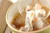 イカと焼き豆腐のショウガ煮の作り方1