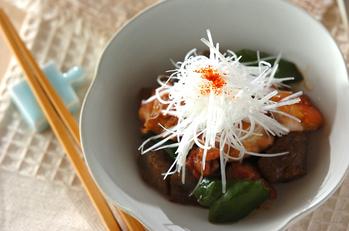 鶏肉と板コンの炒め煮