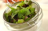 お刺身サラダの作り方2