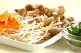 モヤシのピリ辛卵炒めの下準備1
