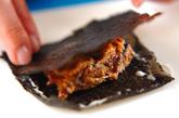 サンマ缶ののり天ぷらの作り方1