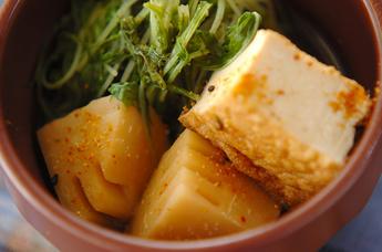 青菜と厚揚げの煮物