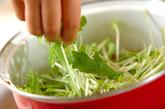 青菜と厚揚げの煮物の作り方2