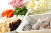 カレー風味の八宝菜の下準備1