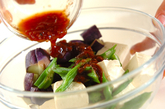 蒸し野菜の梅ダレ豆腐サラダの作り方3