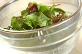 カルボナーラ風サラダ丼の下準備1