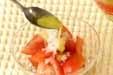 トマトのサラダの作り方1