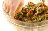 タコ入り餃子の作り方1