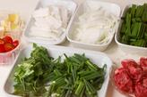 牛肉入りピリ辛サラダの下準備1