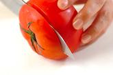 カップトマトのシーフードマリネの下準備1