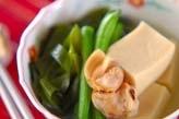高野豆腐と貝の煮物