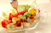 コブサラダのオーロラソースがけの作り方5