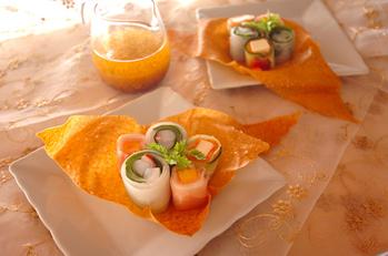 パリパリ器のサラダ