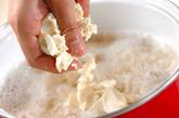くずし豆腐のおろし汁の作り方2
