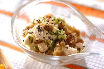 くずし豆腐の中華和え