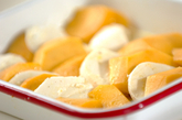 マンゴーとチーズのマリネの作り方1