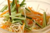 ゆでモヤシの甘酢和えの作り方2