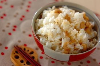 レンコンとチーズの甘辛混ぜご飯