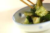 たたきキュウリのピリ辛漬けの作り方1