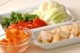 野菜たっぷり酢豚の下準備2
