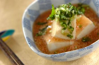 豆腐のタラコあんかけ