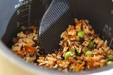 ヒジキと豆の炊き込みご飯の作り方6
