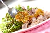 ゆで鶏・ネギダレの作り方3