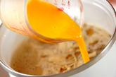 ナメコとエノキのかきたま汁の作り方2